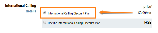 International calling rates from within the U S  – CREDO